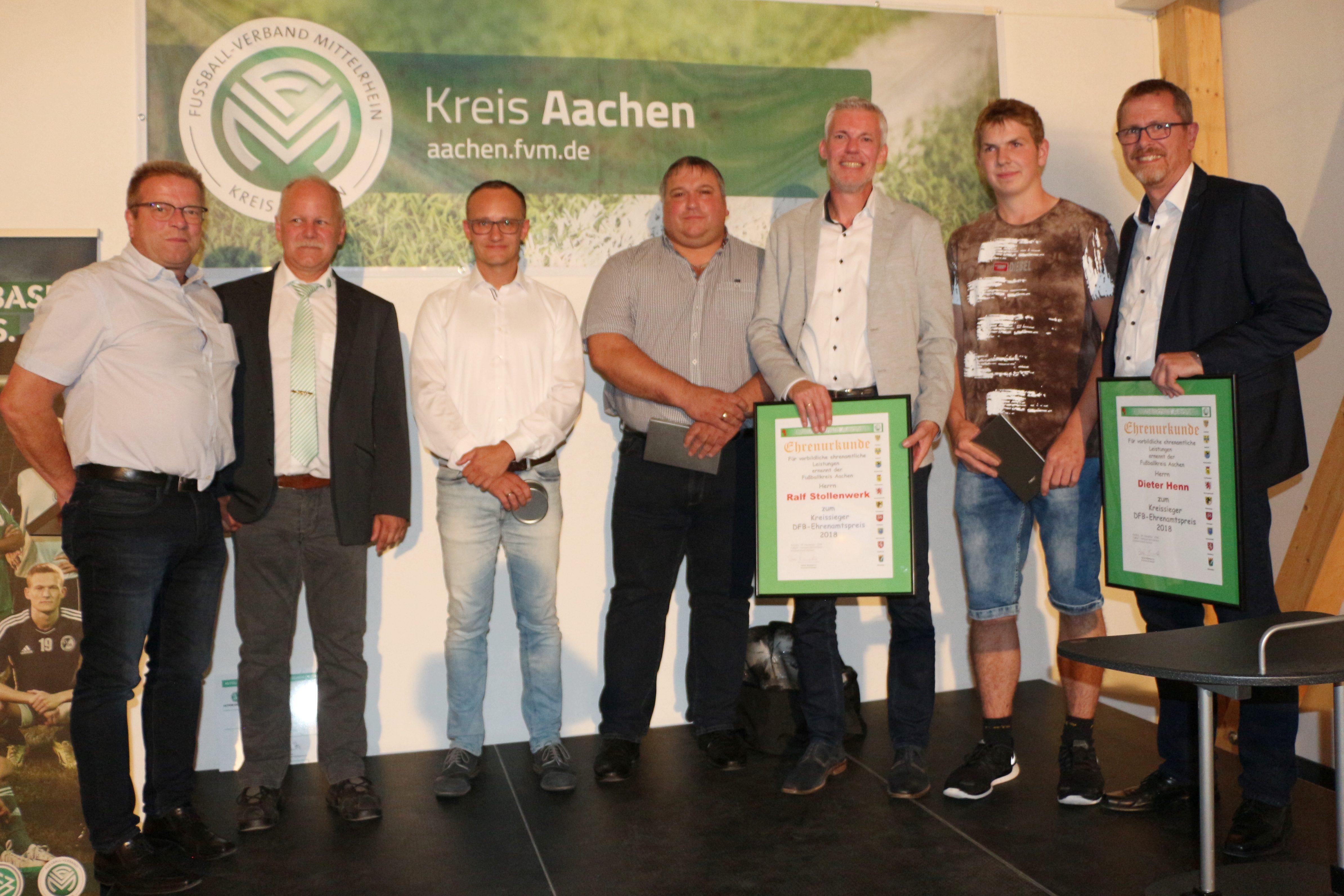 vl. Rolf Schneider, Bernd Mommertz, Christian Hürtgen, Volker STollenwerk, Ralf Stollenwerk, Tim Claaßen und Dieter Henn